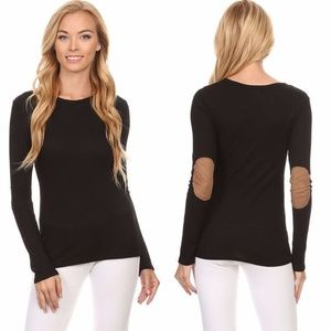 Lightweight Thermal Top w/ Faux Suede Elbow Patch